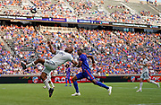New England Revolution defender Andrew Farrell (2) prepares to kick the ball against FC Cincinnati during a MLS soccer game, Sunday, July 21, 2019, in Cincinnati, OH. The Revolution defeated FC Cincinnati 2-0.(Jason Whitman/Image of Sport)