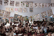 TAMIL NADU, INDIA MARCH 2014:<br /> Shoba, Usha e Amutha  day at school, Tamil Nadu, 03 march 2014 @GDS