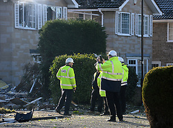 © Licensed to London News Pictures. 19/02/2016. Haxby, UK. The scene of a house explosion in Haxby, York. Photo credit : Anna Gowthorpe/LNP