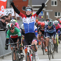 01-03-2020: Wielrennen: Hageland vrouwen: Tielt-Winge: Lorena Wiebes wint in Tielt-Winge voor Marta Bastianelli en Emma Norsgaard