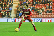 Middlesbrough forward, on loan from Watford, Diego Fabbrini  during the Sky Bet Championship match between Middlesbrough and Burnley at the Riverside Stadium, Middlesbrough, England on 15 December 2015. Photo by Simon Davies.