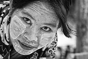Myanmar. Woman at weekly market. Aungban. Shan State.