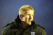 Gillingham manager Adrian Pennock prior to kick off during the EFL Sky Bet League 1 match between AFC Wimbledon and Gillingham at the Cherry Red Records Stadium, Kingston, England on 12 September 2017. Photo by Matthew Redman.