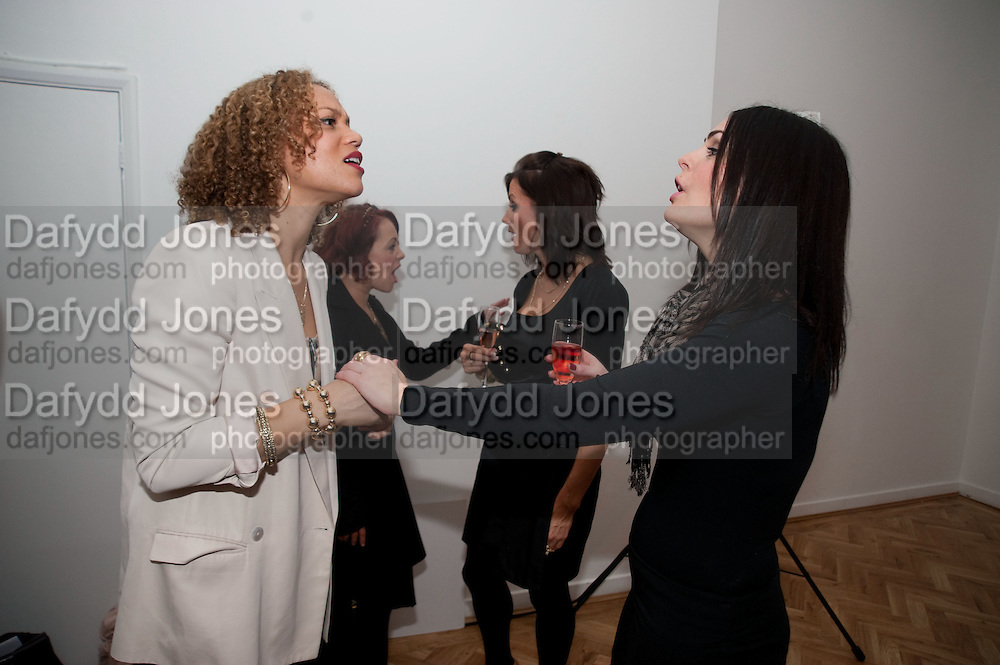 ANGELA GRIFFIN; SARAH CAWOOD; NATHALIE PINKHAM; SUSIE AMY; Elemis 20th Anniversary in partnership with Mothers4Children charity. Party to celebrate 20 years in business and to raise money for Mothers4children and new product launches. One Marylebone. London. 2 February 2010.