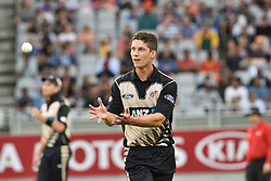 February 17, 2017 - Auckland, New Zealand - Ben Wheeler of New Zealand during international Twenty20 cricket match between South Africa and New Zealand. (Credit Image: © Shirley Kwok/Pacific Press via ZUMA Wire)