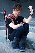 IUSY (International Union of Socialist Youth) General Secretary, Beatriz Talegon, photographed in Brussels 6 March 2013. Photo: Erik Luntang