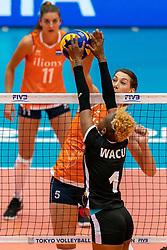 03-08-2019 ITA: FIVB Tokyo Volleyball Qualification 2019 / Netherlands, - Kenya Catania<br /> 3rd match pool F in hall Pala Catania between Netherlands - Kenya. Netherlands win 3-0 / Robin de Kruijf #5 of Netherlands,
