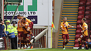 Marvin Johnson goal during the Ladbrokes Scottish Premiership match between Motherwell and Aberdeen at Fir Park, Motherwell, Scotland on 15 August 2015. Photo by Craig McAllister.