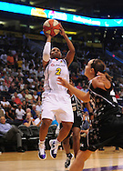Aug 26, 2010; Phoenix, AZ, USA; Phoenix Mercury guard Temeka Johnson (2) puts up a shot against the San Antonio Silver Stars during the first half in game one of the western conference semi-finals in the 2010 WNBA Playoffs at US Airways Center.  Mandatory Credit: Jennifer Stewart-US PRESSWIRE