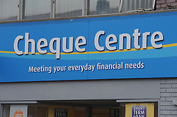 © Licensed to London News Pictures. 06/03/2013.Cheque Centre,Orpington,Kent..The UK's biggest payday loans firms are facing the prospect of being put out of business unless they implement swift changes to their practices within 12 weeks..The ultimatum was issued by the Office of Fair Trading (OFT) following a wide-ranging investigation of the controversial sector .Lenders will also be required to make sure that interest rates are clearly displayed.Photo credit : Grant Falvey/LNP