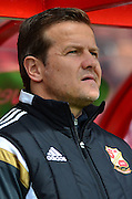 Swindon manager  Mduring the Sky Bet League 1 match between Swindon Town and Leyton Orient at the County Ground, Swindon, England on 3 May 2015. Photo by Alan Franklin.