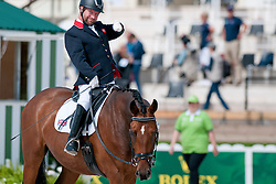Lee Pearson riding Zion in the Grade 1b Para-Dressage at the 2014 World Equestrian Games, Caen, Normandy, France.