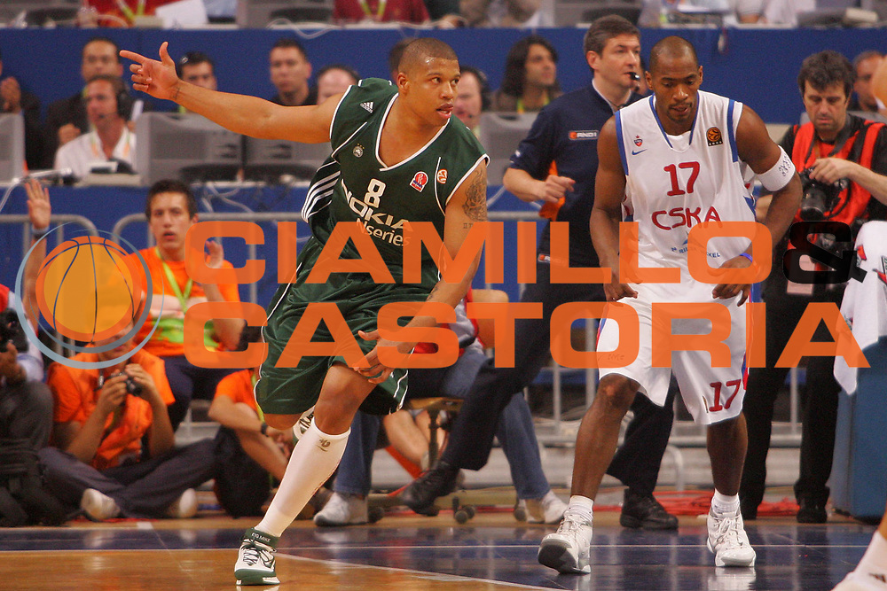 DESCRIZIONE : Atene Athens Eurolega Euroleague 2006-07 Final Four Finale Panathinaikos Atene Cska Mosca <br /> GIOCATORE : Batiste <br /> SQUADRA : Panathinaikos Atene <br /> EVENTO : Eurolega 2006-2007 Final Four Finale <br /> GARA : Panathinaikos Atene Cska Mosca <br /> DATA : 06/05/2007 <br /> CATEGORIA : Esultanza <br /> SPORT : Pallacanestro <br /> AUTORE : Agenzia Ciamillo-Castoria/S.Silvestri
