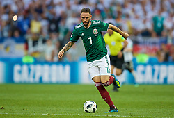 MOSCOW, RUSSIA - Sunday, June 17, 2018: Mexico's Miguel Layun during the FIFA World Cup Russia 2018 Group F match between Germany and Mexico at the Luzhniki Stadium. (Pic by David Rawcliffe/Propaganda)