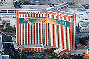 Aerial view of the Treasure Island Hotel Las Vegas