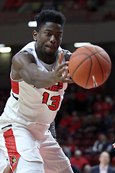 NORMAL, IL - November 24: Rey Idowu during a college basketball game between the ISU Redbirds  and the Lindenwood Lions on November 24 2018 at Redbird Arena in Normal, IL. (Photo by Alan Look)