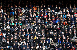 A general view of Derby County supporters in the stands during the match