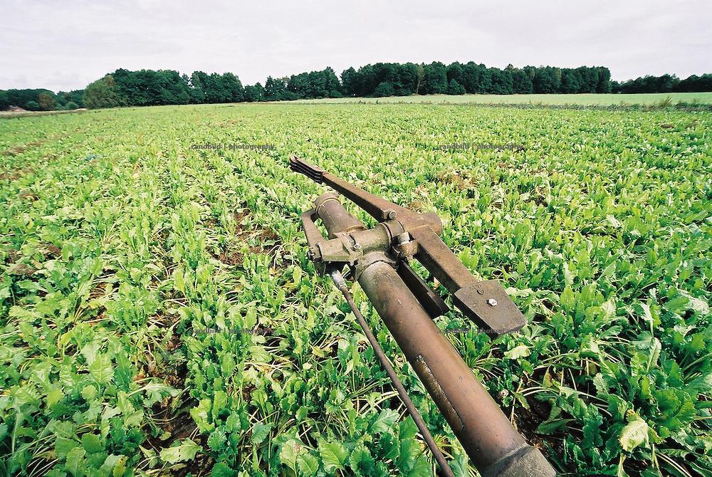 Die trockenen Böden im Wendland werden ab dem Frühjahr mit solchen Beregnungsanlage berwässert.