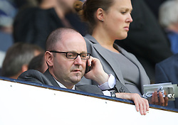 LONDON, ENGLAND - Sunday, September 18, 2011: Liverpool's press officer Ian Cotton during the Premiership match against Tottenham Hotspur at White Hart Lane. (Pic by David Rawcliffe/Propaganda)