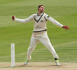 Middlesex's Ollie Rayner bowls - Photo mandatory by-line: Robbie Stephenson/JMP - Mobile: 07966 386802 - 04/05/2015 - SPORT - Football - London - Lords  - Middlesex CCC v Durham CCC - County Championship Division One