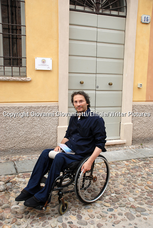 Pierluigi Cappello, Festivaletteratura Mantova <br /> 05 September 2014<br /> <br /> Photograph by Giovanni Giovannetti/Effigie/Writer Pictures <br /> <br /> NO ITALY, NO AGENCY SALES