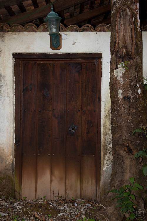 """Door 8"" - This old wooden door was photographed in the small mountain town of San Sebastian, Mexico."