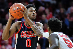 NORMAL, IL - December 08: Blake Hinson defended by Malik Yarbrough during a college basketball game between the ISU Redbirds and the University of Mississippi (Ole Miss) Rebels on December 08 2018 at Redbird Arena in Normal, IL. (Photo by Alan Look)
