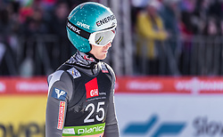 22.03.2019, Planica, Ratece, SLO, FIS Weltcup Ski Sprung, Skiflug, Einzelbewerb, Wertungssprung, Finale, im Bild Michael Hayboeck (AUT) // Michael Hayboeck of Austria during his competition jump of the Ski Flying Hill individual competition of the FIS Ski Jumping World Cup Final 2019. Planica in Ratece, Slovenia on 2019/03/22. EXPA Pictures © 2019, PhotoCredit: EXPA/ JFK