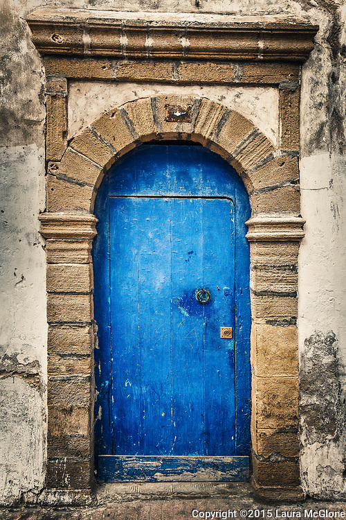 Blue Moroccan Doorway in Essaouira Morocco