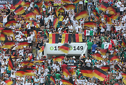 MOSCOW, June 17, 2018  Fans of Mexico and Germany cheer prior to a group F match between Germany and Mexico at the 2018 FIFA World Cup in Moscow, Russia, June 17, 2018. (Credit Image: © Xu Zijian/Xinhua via ZUMA Wire)