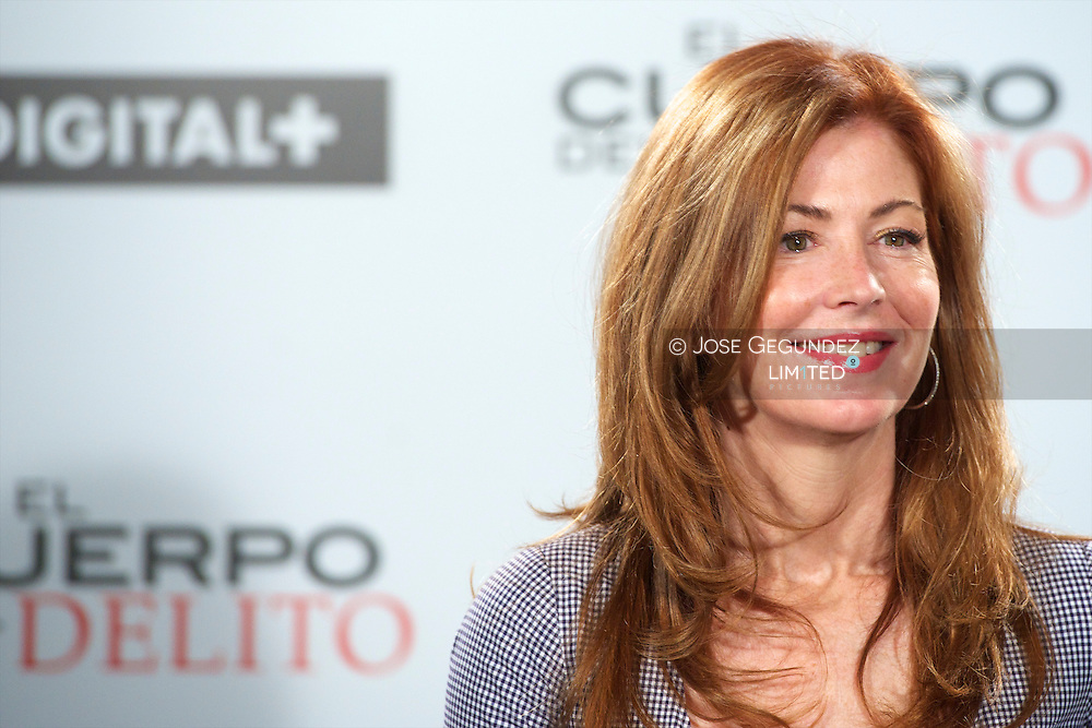 Actress Dana Delany attends a photocall for 'El Cuerpo del Delito' ('Body of Proof') tv series at AC Palacio del Retiro Hotel in Madrd