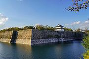 The moat around Osaka Castle, Osaka, Kansai, Japan