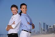 Monday, 6 October 2014 Magic Millions photo shoot at Main Beach on the Gold Coast, Queensland, Australia. (Photo by: Matt Roberts/mattrimages.com.au)
