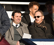 20th January 2018, Dens Park, Dundee, Scotland; Scottish Cup fourth round, Dundee versus Inverness Caledonian Thistle; Former Dundee manager Paul Hartley and former Dundee CEO Scot Gardiner watch Dundee v Inverness Caledonian Thistle