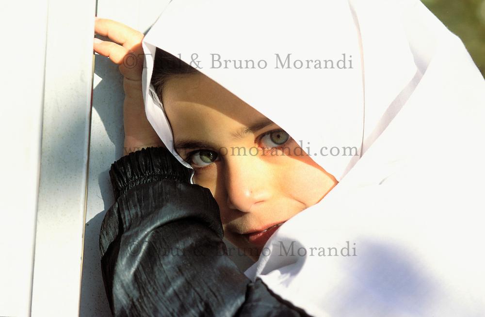 Iran, Kerman province, Mahan, Young girl
