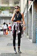 Plaid Shirt and Crop Top, Outside No. 21