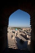 UZ119 Uzbekistan, View from minaret. Ouzbekistan, vu des minarets.