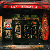 Local classic bar in Paris, France. If I am aloud to love my photos, I love this one.