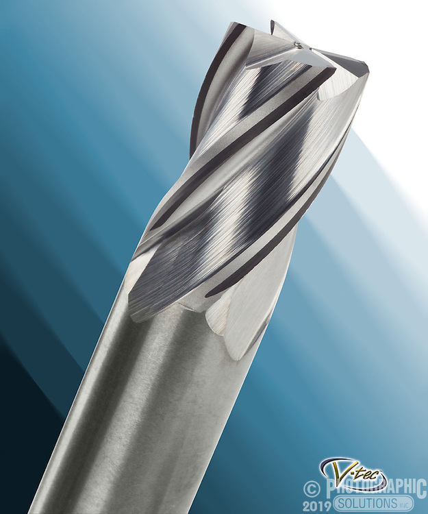 A macro shot of a drill bit - the background is obviously faked to match their promotional material.
