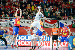 KASPAREK Stanislav of Czech Republic during handball match between National teams of Spain and Czech Republic on Day 2 in Preliminary Round of Men's EHF EURO 2018, on Januar 13, 2018 in Skolsko Sportska Dvorana, Varazdin, Croatia. Photo by Mario Horvat / Sportida