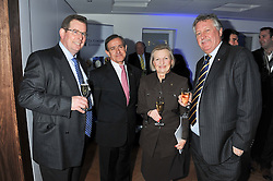 Left to right, JOHN WILLIAMS Executive Chef at The Ritz, ANDRE COINTREAU President of Cordon Bleu International, LESLEY GRAY Principal of Le Cordon Bleu Cookery School and Chef BRIAN TURNER at the Grand Opening of Le Cordon Bleu's International Flagship School at 15 Bloomsbury Square, London WC1 on 7th February 2012.