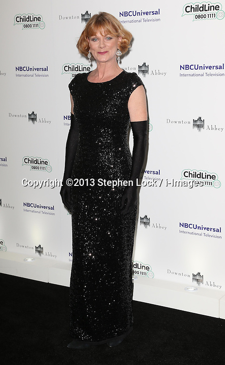 Samantha Bond arriving at the Downton Abbey ChildLine Ball in London, Thursday, 24th October 2013. Picture by Stephen Lock / i-Images