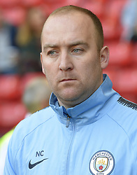 February 23, 2019 - Sheffield, England, United Kingdom - Nick Cushing Manchester City Manager during the  FA Women's Continental League Cup Final  between Arsenal and Manchester City Women at the Bramall Lane Football Ground, Sheffield United FC Sheffield, Saturday 23rd February. (Credit Image: © Action Foto Sport/NurPhoto via ZUMA Press)