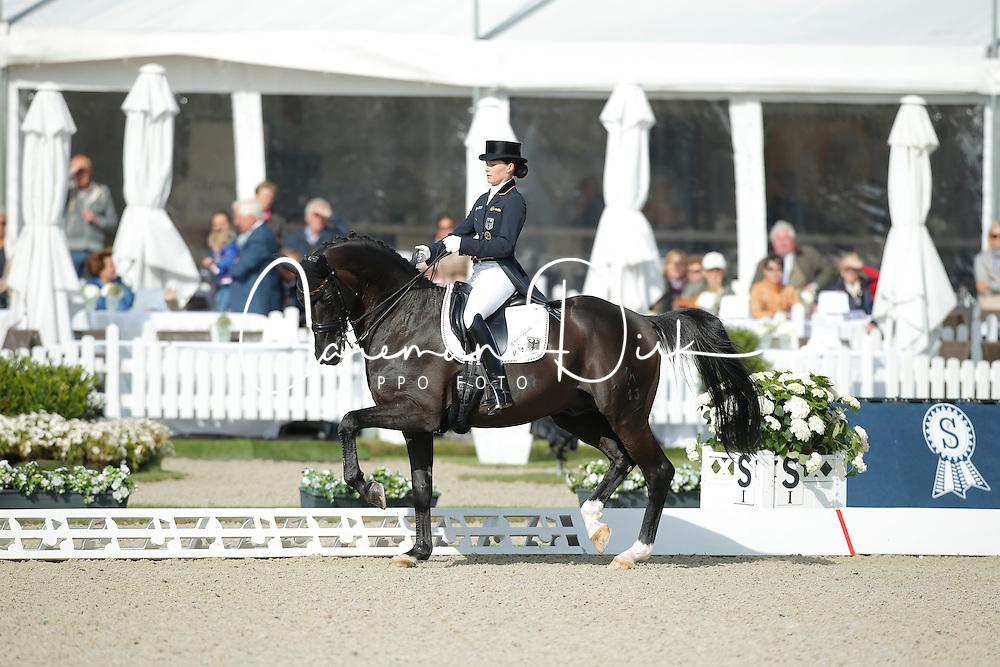 jSprehe Kristina, (GER), Desperados FRH <br /> Grand Prix<br /> CDIO Hagen 2015<br /> © Hippo Foto - Stefan Lafrentz<br /> 09/07/15
