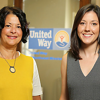 Mary Plasencia and Mattie Carter, new staff members at the United Way.