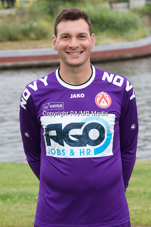 Kortrijk's goalkeeper Darren Keet poses for the photographer during the 2014-2015 season photo shoot of Belgian first league soccer team KV Kortrijk, Tuesday 08 July 2014 in Kortrijk.