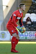 St Mirren goalkeeper Vaclav Hladky during the Ladbrokes Scottish Premiership match between St Mirren and Hibernian at the Paisley 2021 Stadium, St Mirren, Scotland on 27 January 2019.