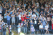 Dundee fans applaud their team at the end - Dundee v Manchester City  at Dens Park<br /> <br />  - &copy; David Young - www.davidyoungphoto.co.uk - email: davidyoungphoto@gmail.com