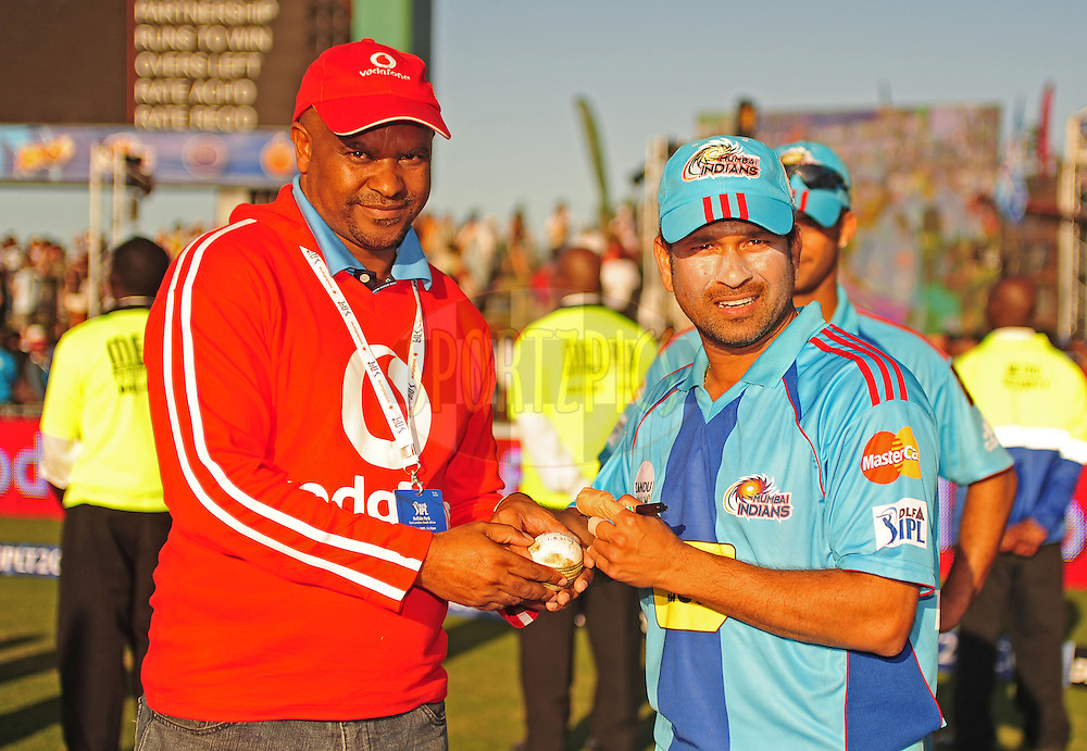 EAST LONDON, SOUTH AFRICA - 1 May 2009.  during the  IPL Season 2 match between the Mumbai Indians and the Kolkata Knight Riders held at Buffalo Park in East London. South Africa...