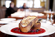 A bourbon French toast  served at Braeburn restaurant in the west village on November 20, 2010 in  New York City.Photo by: Joe Kohen for The Wall Street Journal.LB.Braeburn